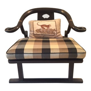 "Vintage Michael Taylor for Baker Furniture ""Far East Collection"" Chinoiserie Lounge Chair For Sale"