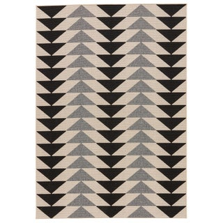 Jaipur Living McKenzie Indoor/ Outdoor Geometric Area Rug - 7′2″ × 10′ For Sale