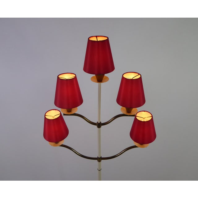 Modern Italian Five Light Floor Lamp 1940s For Sale In Miami - Image 6 of 13