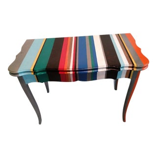 French Provincial Modern Painted Console Table