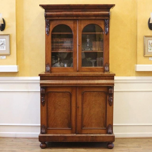 19th Century Victorian Mahogany Display Cabinet For Sale - Image 10 of 10