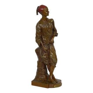 """Antique Bronze Sculpture """"Décrotteur Arabe"""" by Edouard Drouot For Sale"""