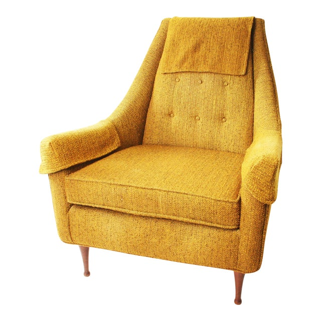 Mid Century Modern Upholstered Lounge Chair by Flexsteel - Image 1 of 11