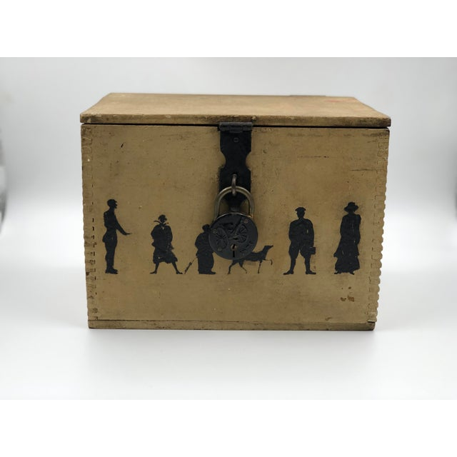 Charming late 19th century handmade decorative box with miniature dovetail corners. The box was probably originally...