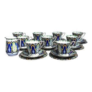 Vintage Adderley Ware Art Deco Tea Service for 9 - 28 Piece For Sale