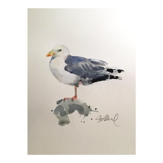 Sea Gull Original Watercolor Painting For Sale