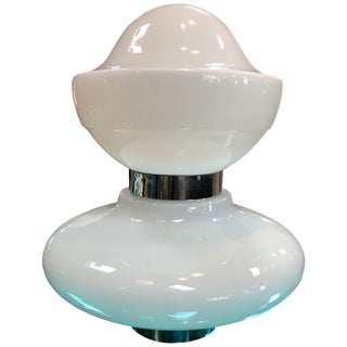 Sergio Mazza Opaline Glass Space Age Table Lamp, 1968 For Sale