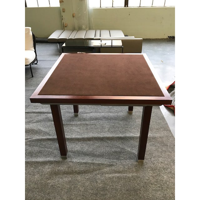 Suede Top Giorgetti Card Table - Image 2 of 3