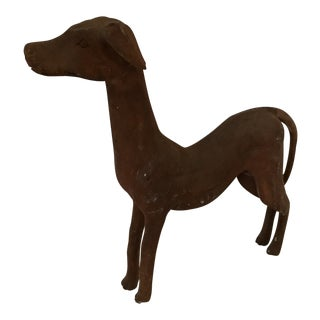 Carved Wood Whippet