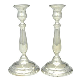 "1950s International Silver Lord Saybrook Sterling 9"" Candlesticks - a Pair"