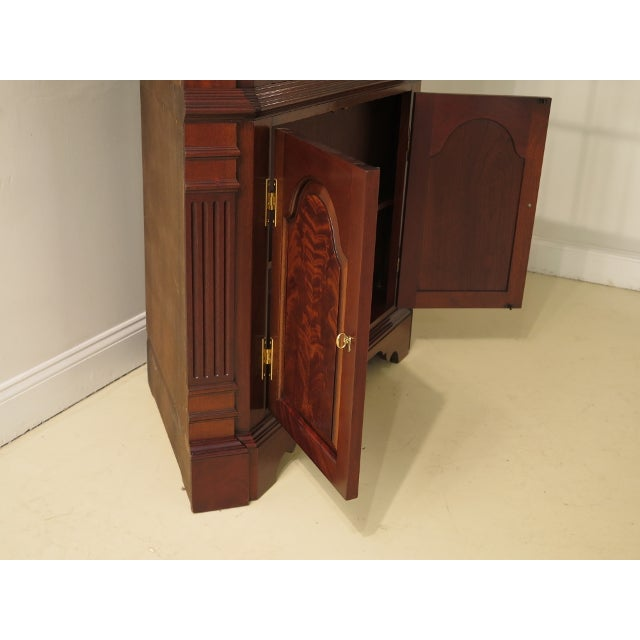 Councill Craftsmen Chippendale Mahogany Corner Cabinets- A Pair For Sale - Image 10 of 13