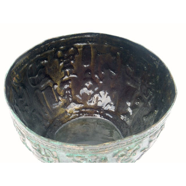 2000s Decorative Indonesian Bronze Bowl For Sale - Image 5 of 6