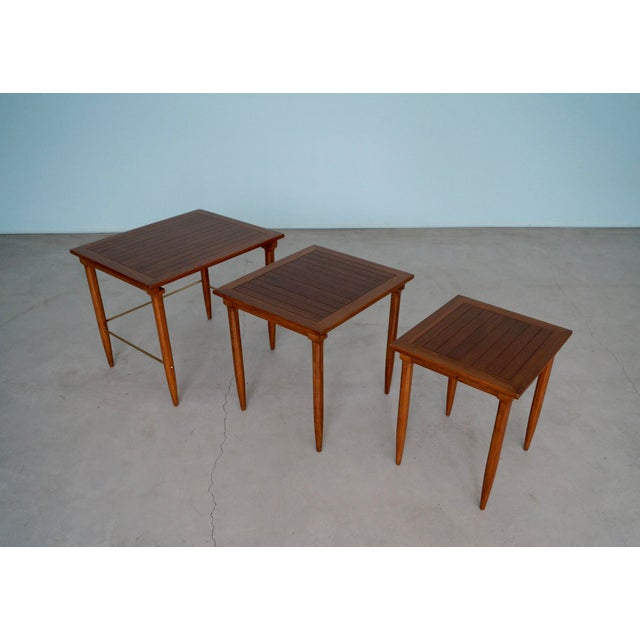Tomlinson 1950s Mid-Century Modern Tomlinson Nesting Tables - Set of 3 For Sale - Image 4 of 13