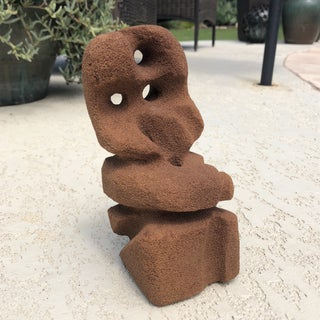 Abstract Modern Carved Signed Sandstone Sculpture Preview