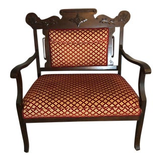 Victorian Carved Mahogany Sofa Settee
