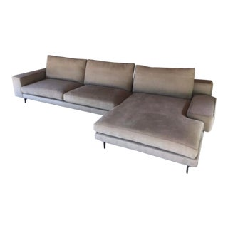 Minotti by Rudolfo Dordoni Gray Sectional Sofa For Sale