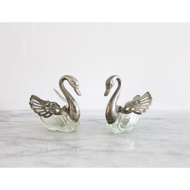 Vintage Godinger Swans Salt Well - Set of 4 For Sale - Image 10 of 10