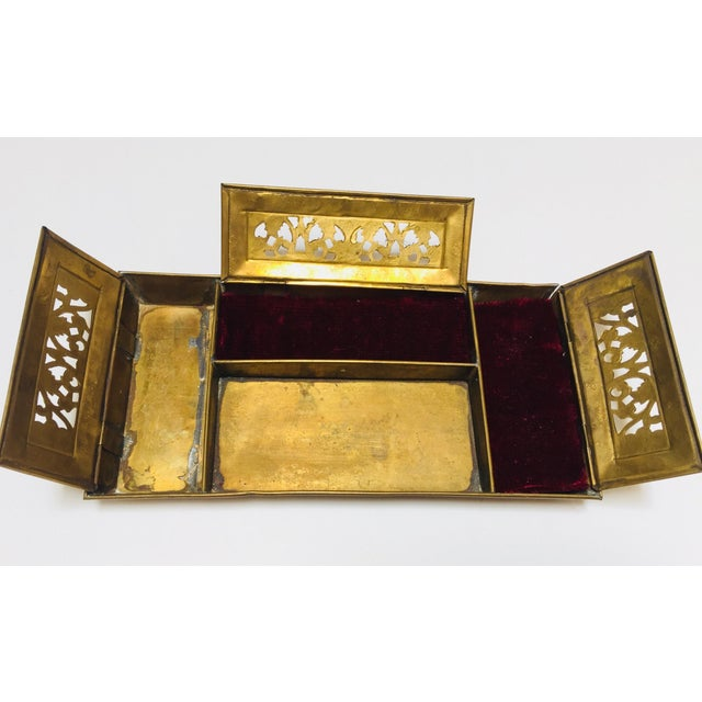 Antique Anglo Indian Georgian Brass Desk Box For Sale - Image 10 of 12