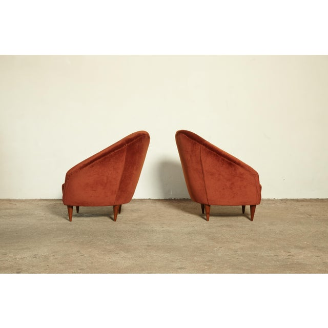 Mid-Century Modern Pair of Federico Munari Lounge Chairs Italy, 1960s For Sale - Image 3 of 8