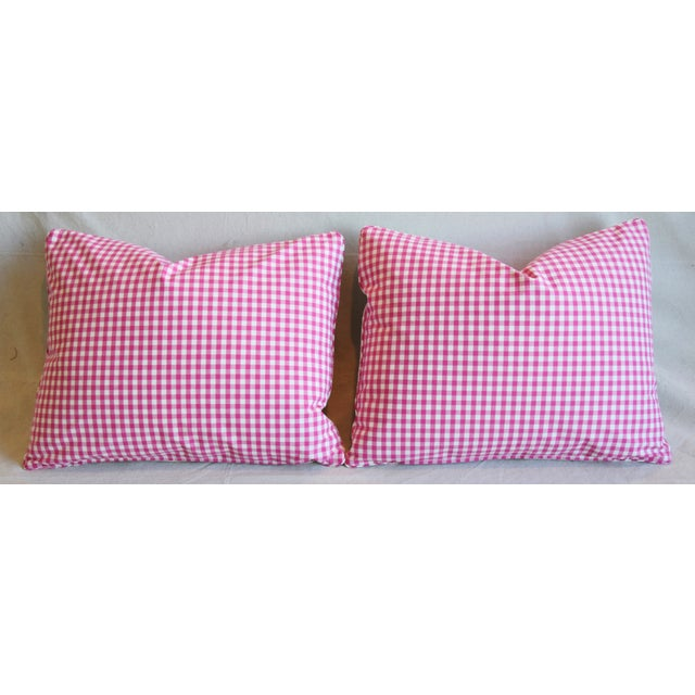 """French Manuel Canovas Floral Linen Feather/Down Pillows 23"""" X 17"""" - Pair For Sale - Image 10 of 13"""