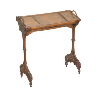 Unusual Renaissance Revival Style Small Writing Table Book Stand
