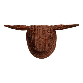 20th Century Wicker Bull Head For Sale