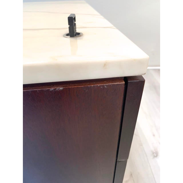 """Knoll """"Florence"""" Office Credenza With Calacatta Borghini Marble Top For Sale - Image 9 of 13"""