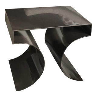 Bolier & Company for Decca Far East Metallic Side Table For Sale