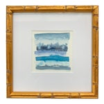 Original Abstract Watercolor in Shades of Blue
