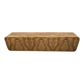 Faux Burl Wood Wall Cabinet Credenza Buffet For Sale