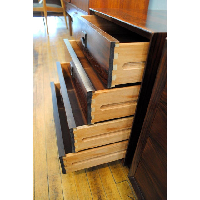 Danish Brazilian Rosewood 4 Drawer Nightstands- A Pair For Sale In Boston - Image 6 of 10