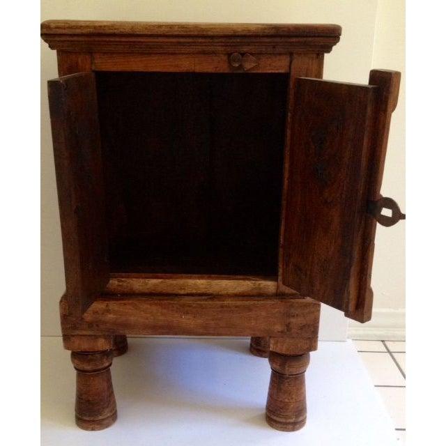 Antique Indian Teak Wood Storage Table - Image 3 of 4