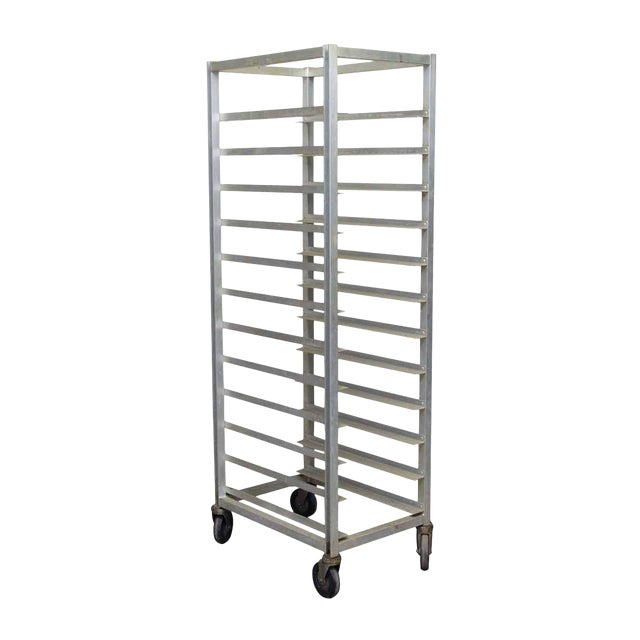 Industrial Eleven Sheet Steel Pan Cart For Sale