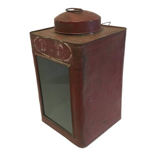 Antique Tin Container For Sale