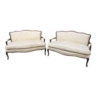 Vintage Louis XVI-style Settees- A Pair For Sale