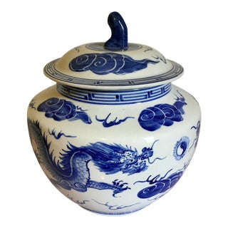 Blue & White Dragon Jar