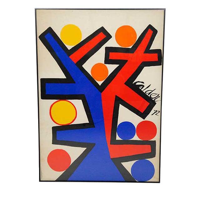 Asymetrie Silk Screen by Alexander Calder For Sale