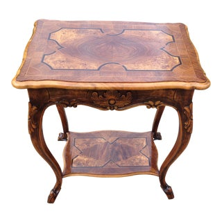 French Marquentry Louis XIV Carved Side Table
