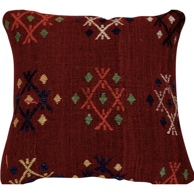 Vintage Handmade Wool Decorative Boho Pillow For Sale