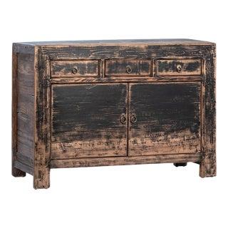 Vintage Black Ming Sideboard For Sale