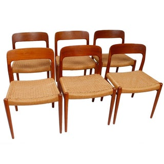 Danish Teak Niels Moller #75 Dining Chairs - S/6