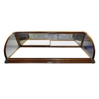 20th Century Traditional Rounded Glass Display Case