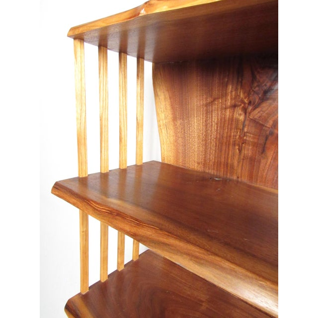 Wood Modern Live Edge Wall Shelf After George Nakashima For Sale - Image 7 of 13