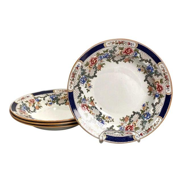 Set of 4 Cauldon Soup Plates, England For Sale