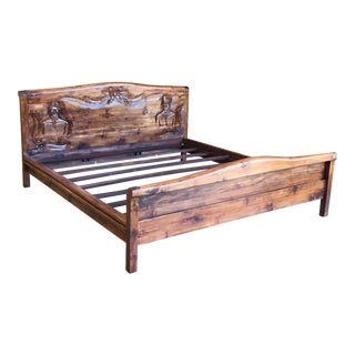 20th Century Country Hawaiian Koawood Marriage Bed For Sale