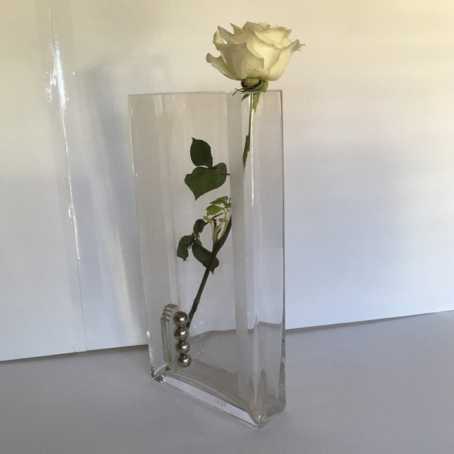 Glass Vase Circa 1937 Signed A.Riecke For Sale - Image 4 of 11