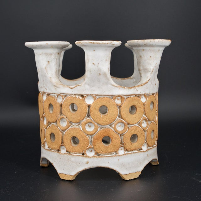 Intricate pattern of glazed and unglazed elements to form this Caribbean modernist centrepiece.