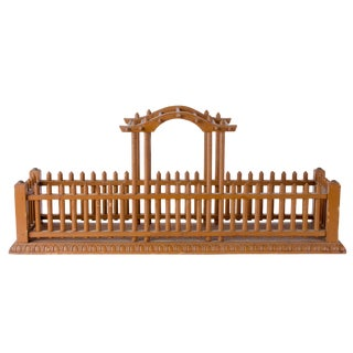 Folk Art Trellis Centerpiece Planter For Sale