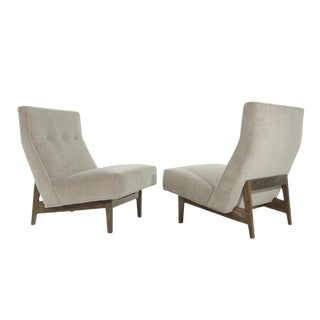 Classic Slipper Chairs by Jens Risom C. 1950s - a Pair For Sale