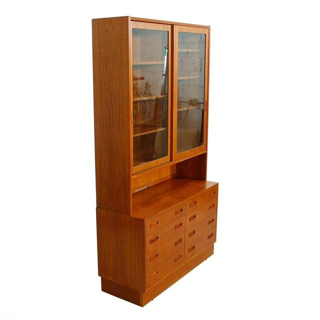 Danish Modern Teak Bookcase Display Cabinet - Image 8 of 8